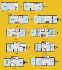 Travel Trailer Floor Plans With Bunk Beds by Forest River R Pod Ultra Lite Travel Trailer Floorplans Camper