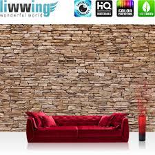 fototapete steinwand tapete steinwand steinoptik steine wand mauer steintapete braun no 157