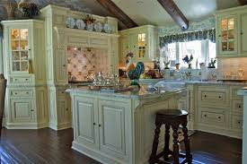 French Country Kitchen Accessories Traditional With Beams Blue Image By Sue Murphy Designs