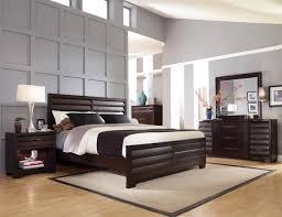 Brilliant Dark Wood Nightstand Sable Bedroom Set Bed 2 Nightstands Dresser Mirror