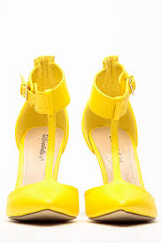 breckelles pointed toe isabel yellow heels cicihot heel shoes