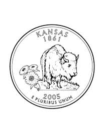 Kansas State Quarter Coloring Page