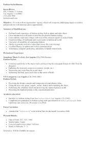 Fashion Stylist Resume Hairdresser Good Objective For Personal