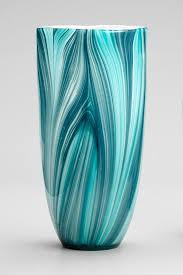 Turin Vase In The Most Beautiful Medly Of Aqua Turquoise Cerulean Teal