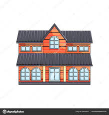 100 Eco Home Studio Wooden Twostory Eco House Exterior Front View On Empty Background