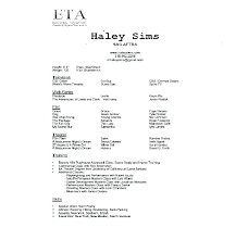 Talent Resume Template For A Beginner Acting Resumes Beginners Actor Actors No Experience