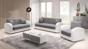 3 2 1 sofa set vera anthrazit armlehne weiss sofa mit schlaffunktion und bettkasten farbe anthrazit