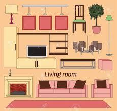 coole grafik wohnzimmer inter design mit möbeln
