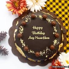 Get Chocolate Birthday Cakes With Name Wish Your Friend