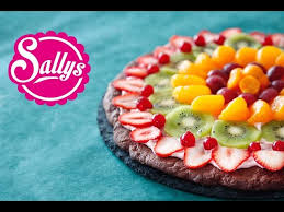 nutella pizza rezept frucht pizza obst pizza dessert