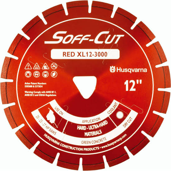 Husqvarna Excel 3000 Soff-Cut Blade and Skidplate - Red, 12""