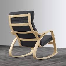 POÄNG - Rocking-chair, Birch Veneer, Lysed Grey