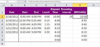 Ceiling Function Excel 2007 by Three Tips For Rounding Excel Time Values Techrepublic
