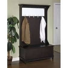 Brilliant 33 Metal Coat Rack With Bench And Bonded Leather Entryway 2 Storage Ideas