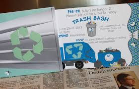 Juneberry Lane: A Garbage Truck 'Trash Bash' Birthday Party...GROSS!! 53 Best Boys Garbage Truckrecycling Party Images On Pinterest Miguel Angels 2nd Birthday Truck Theme Youtube Trash Bash Ashley Lauer Photography 14 Pack Trucks Kooking In Kates Kitchen Trash Scavenger Hunt Supplies At My Sons Garbage Truck Birthday Invitations 5th Fine Stationery Boy Mama A Trashy Celebration Cakes Crazy Wonderful