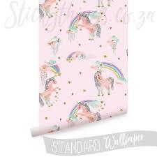 Roll Of Pink Glitter Unicorn Wallpaper