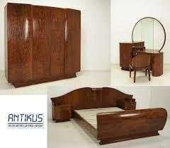 schlafzimmer komplett déco um 1930 6 teilig wurzelholz