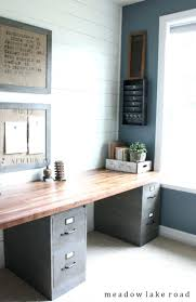 Industrial Style Home Office Desk Clean And Functional With An Rustic Look Labor Junction