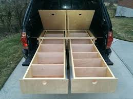 Wood Truck Bed Storage Drawers : DIY Truck Bed Storage Drawers ... Desk To Glory Drawers And Sleeping Gallery Also Truck Bed Platform Storage Diy Plans Rockland Custom Products Tactical Division Rock Solid Weapons Toyota Tacoma Owner Turns His Car Into A Handmade Rv Aoevolution Decked System Diy Bedroom Ideas And Ipirations Drawer Slides Fniture Box Cptl Single Troy Gladiator Gawb06mtzg Garage Bins Over The Wheel Well For Trucks Hdp Models