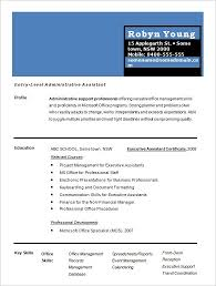 1 Page Resume Template Best One Free Examples