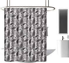 duschvorhang mit paisley muster mehndi stil authentische