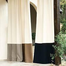 sunbrella outdoor grommet drape pottery barn