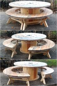 Recycled Pallet Cable Reel Patio Furniture