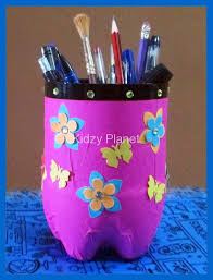 Art And Craft Ideas From Waste Material For Kids Pen Stand Made With Kidzy Planet