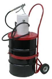 100 Drum Hand Truck 501 Ratio Grease Pump With Steel Drum And Hand Truck High Pressure
