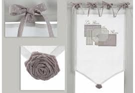 rideau de cuisine brise bise brise bise à nouettes mauve et brodé fleurs en fleurs 45x70 cm amad