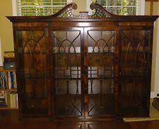 Henredon Breakfront China Cabinet by Mahogany Breakfront Antique Furniture Ebay