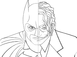 Batman Fighting Joker Coloring Pages For Kids Free Download