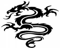 Dragon Tattoo Simple 17 Tribal Design