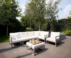 Image of metal outdoor furniture modern