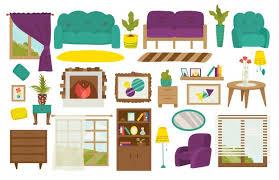 premium vector furniture room interior design and home