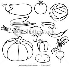 Fruits And Ve ables Clip Art Black And White Drawings Animals