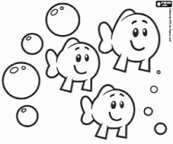 Little Fishes A Trio Of Bubble Guppies Logo Coloring Page