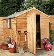 6 X 6 Wood Storage Shed by Waltons 8 X 6 Overlap Apex Wooden Garden Shed With Single Door