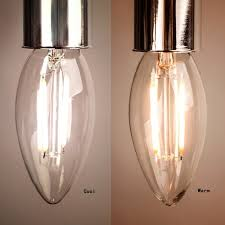 dimmable e14 4w 6w led filament edison bulb candle clear glass