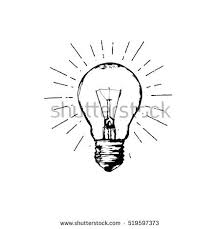 light bulb line drawing sign stock vector 519597373