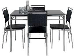 table de cuisine conforama ensemble table et de 4 chaises jade coloris noir vente de