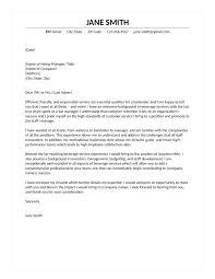 Sample Cover Letter For Bartender Resume Accounting Writing Tips