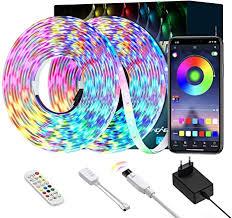 ltteny led 10m smart rgb led streifen steuerbar via app farbwechsel led lichterkette mit sync zur musik anwendung für schlafzimmer küche