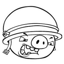 Angry Birds Coloring Page Pig