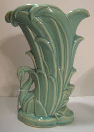 McCoy Pottery Swan Vase from White Rose Antiques on the Lane on