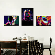 Colorful Batman Movie Superhero DC Comics Canvas Painting Art Print Poster Picture Wall Childrens Bedroom Decoration