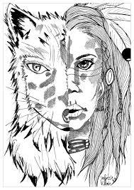 Coloring Indian Wolf Par Valentin