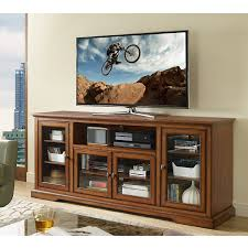 Amazon New 70 Inch Wide Highboy Style Wood Tv Stand Rustic Brown Finish Kitchen Dining
