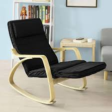 SoBuy New Comfortable Relax Rocking Chair With Footrest Design ...