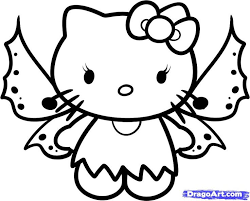 Kitty Is All Set To Fly Coloring Page